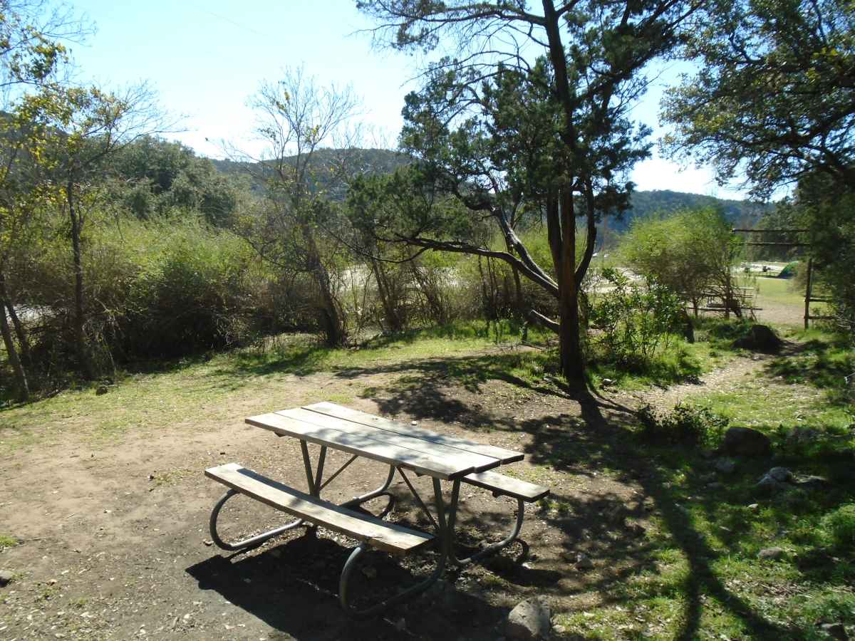 The Grey fox Group Campsite is about 150-yards from the river.