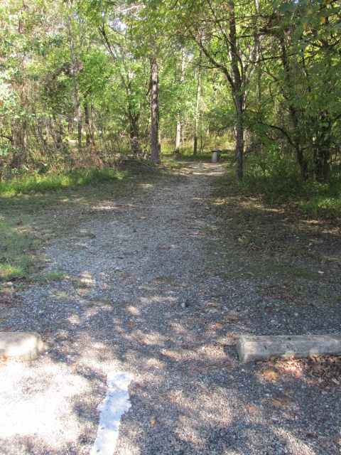 Trail from parking lot to camping area.