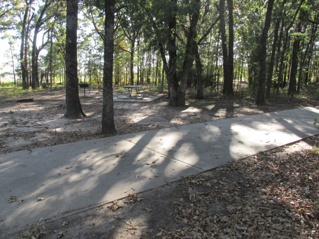 Cooper Lake State Park Standard Campsites Water And