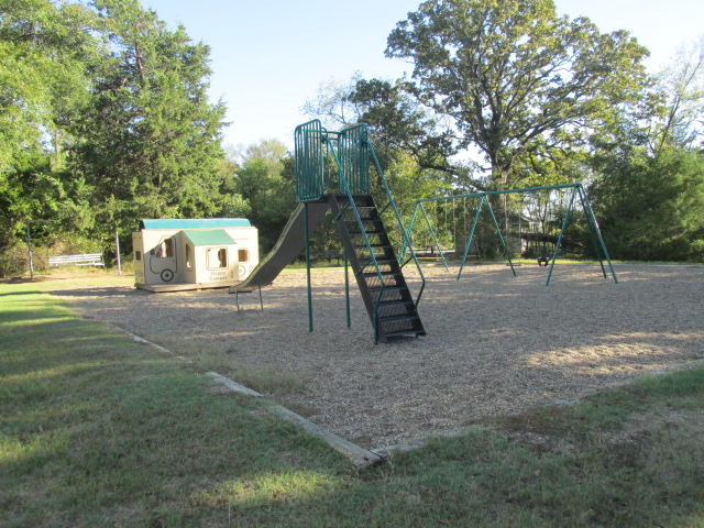 Playground in the center of the camping loop.