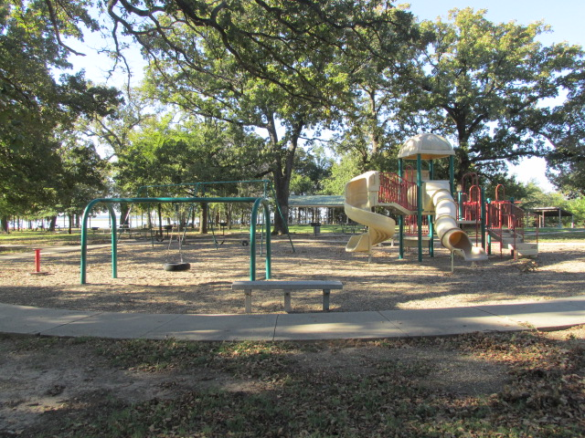 Playground near pavilion.