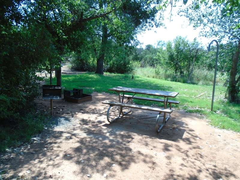Campsite #26, with water, in the Kiowa Camping Area.
