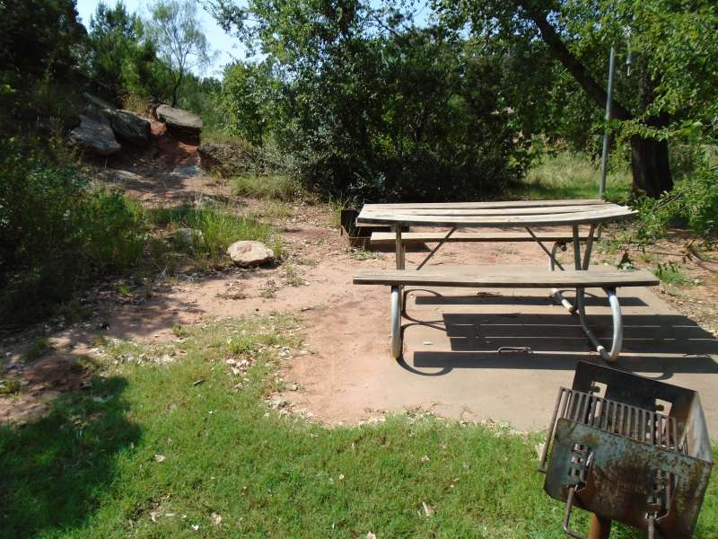 Campsite #28, with water, in the Kiowa Camping Area.