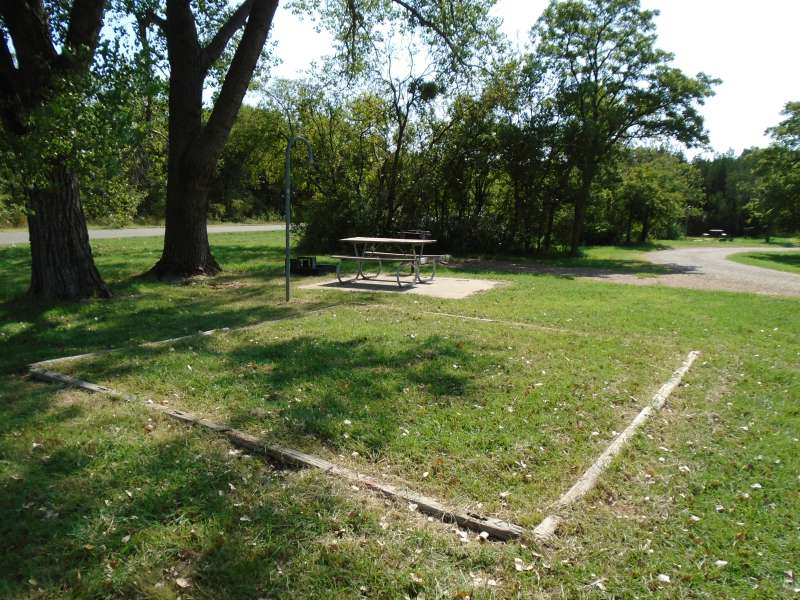 Campsite #33, with water, in the Kiowa Camping Area.