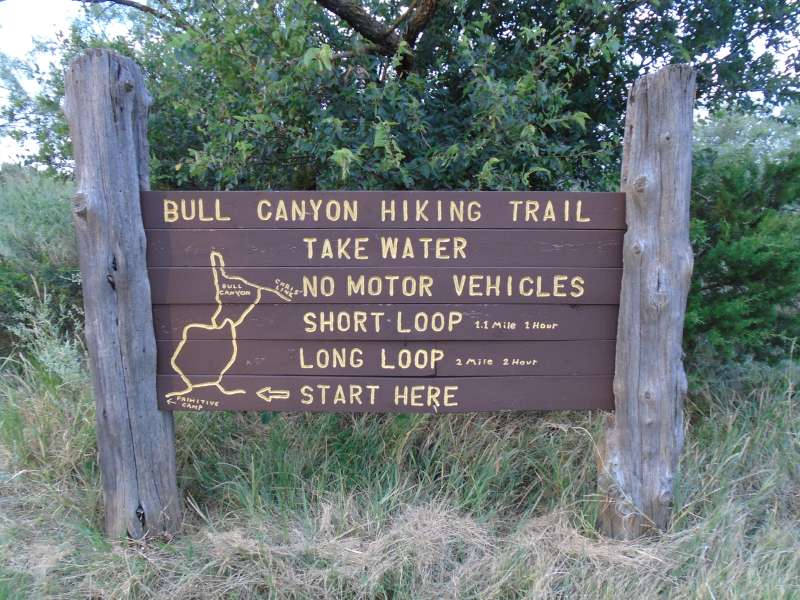 Trail head to the Primitive Camping Area.