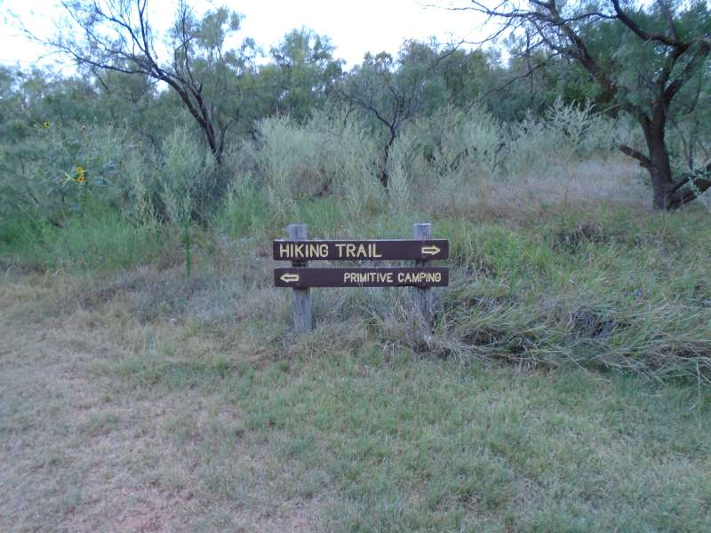 Hiking to the Primitive Camping Area.