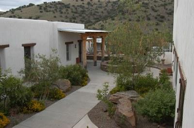 Courtyard of Lodge.