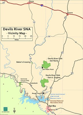 View a larger version of this map of the Devils River Area