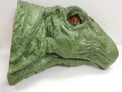 Green brontosaurus head