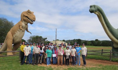 CPRA 2016 graduates at Dinosaur Valley