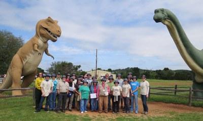 CPRA 2016 graduates at Dinosaur Valley