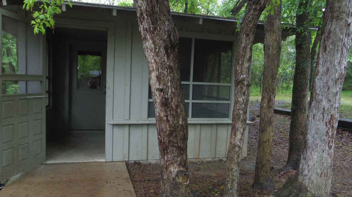 A view of the front of the Cabin.