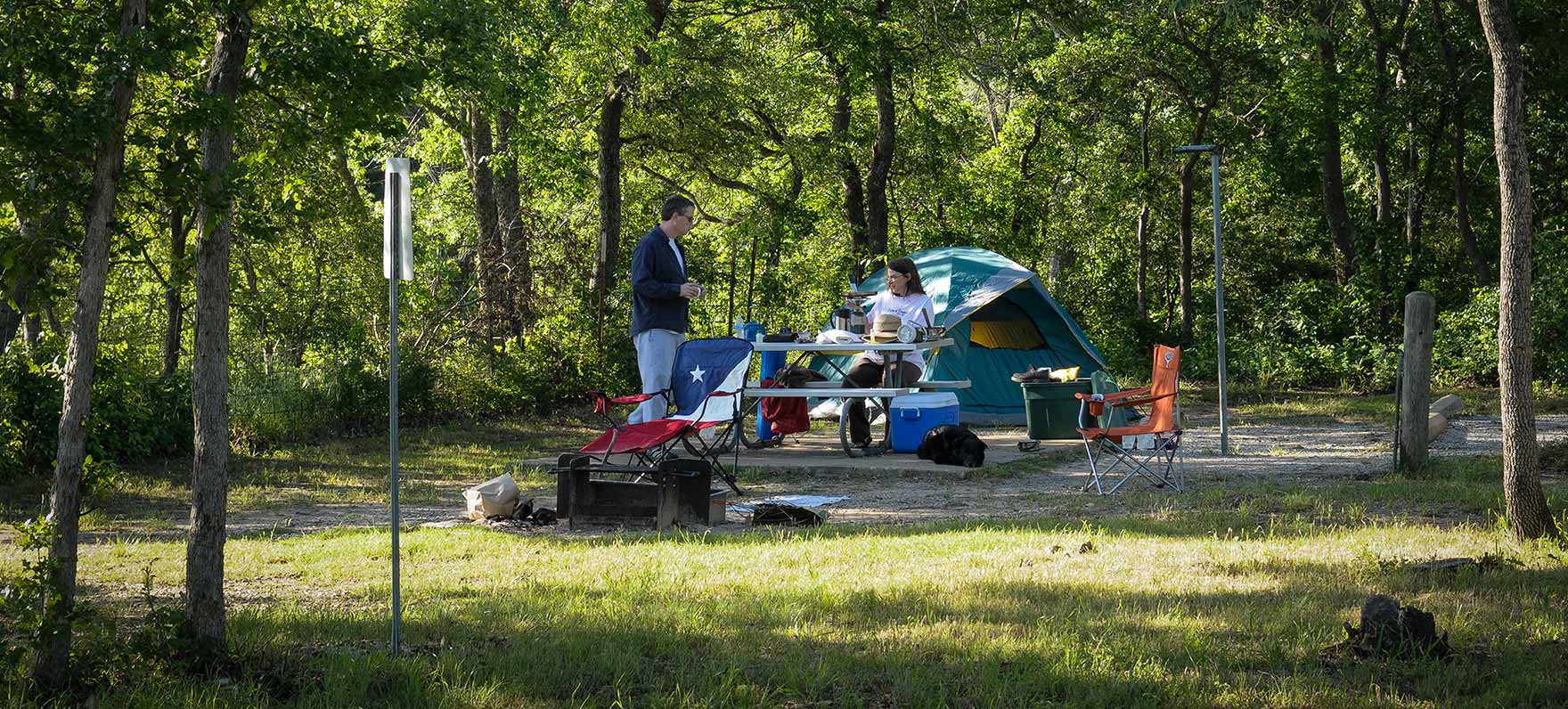 Eisenhower state park texas parks wildlife department for Atv parks in texas with cabins