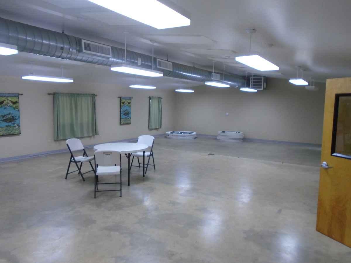 Inside Pauraque Hall.