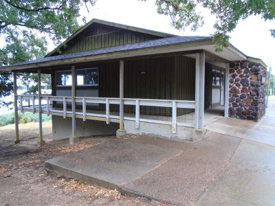 The wheelchair accessible Group Hall with Kitchen, overlooking the lake.