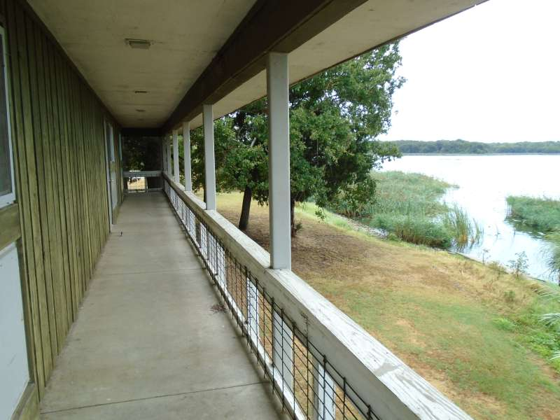 A view of the lake from the Group Dining Hall.