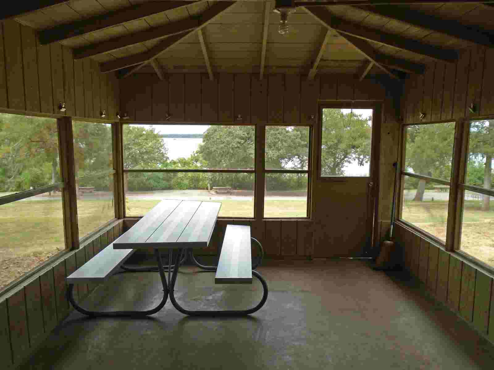 Fort Parker State Park Screened Shelters Texas Parks