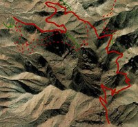 map graphic showing trail