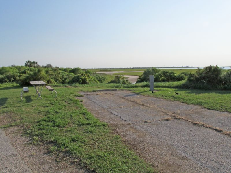Galveston Island State Park Campsites With Water And