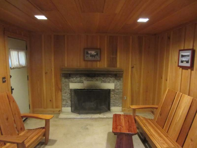 The living area of Premium Cabin #4.