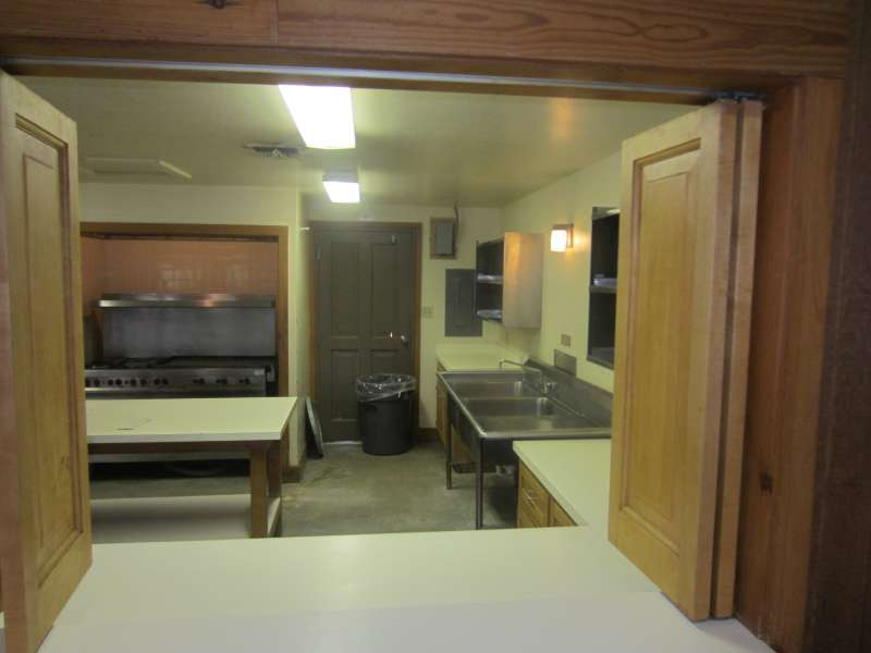 Inside the dining hall kitchen of the Group Camp.