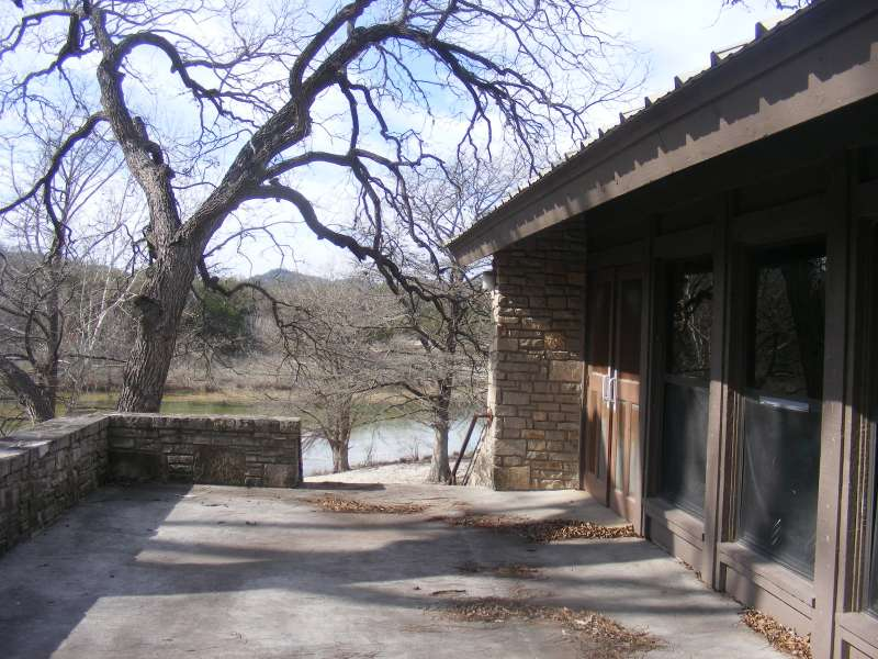 Outside the back of the dining hall there's a great view of the Frio River.
