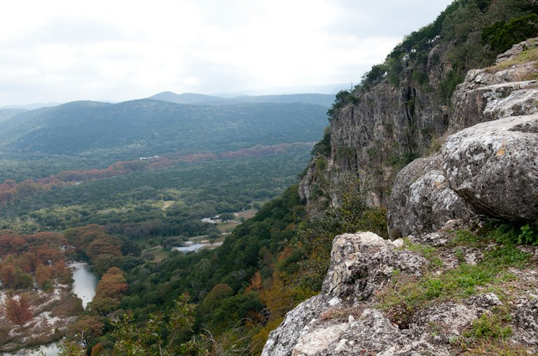 A photo from atop Old Baldy, a hill overlooking Garner SP