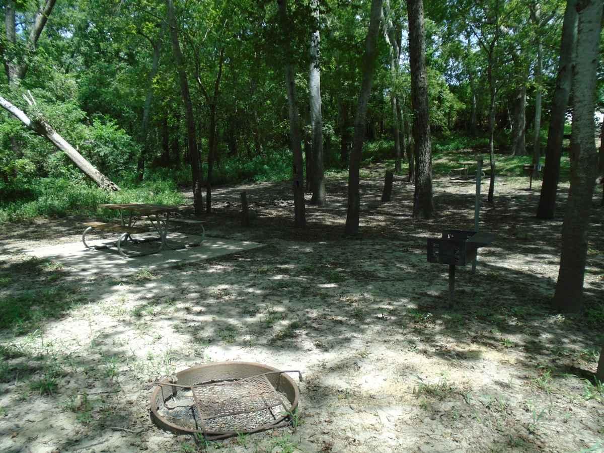 Tent campsite #2 in the Vaquero camping area.