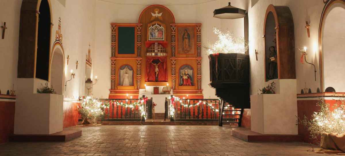 Inside the Chapel during December..