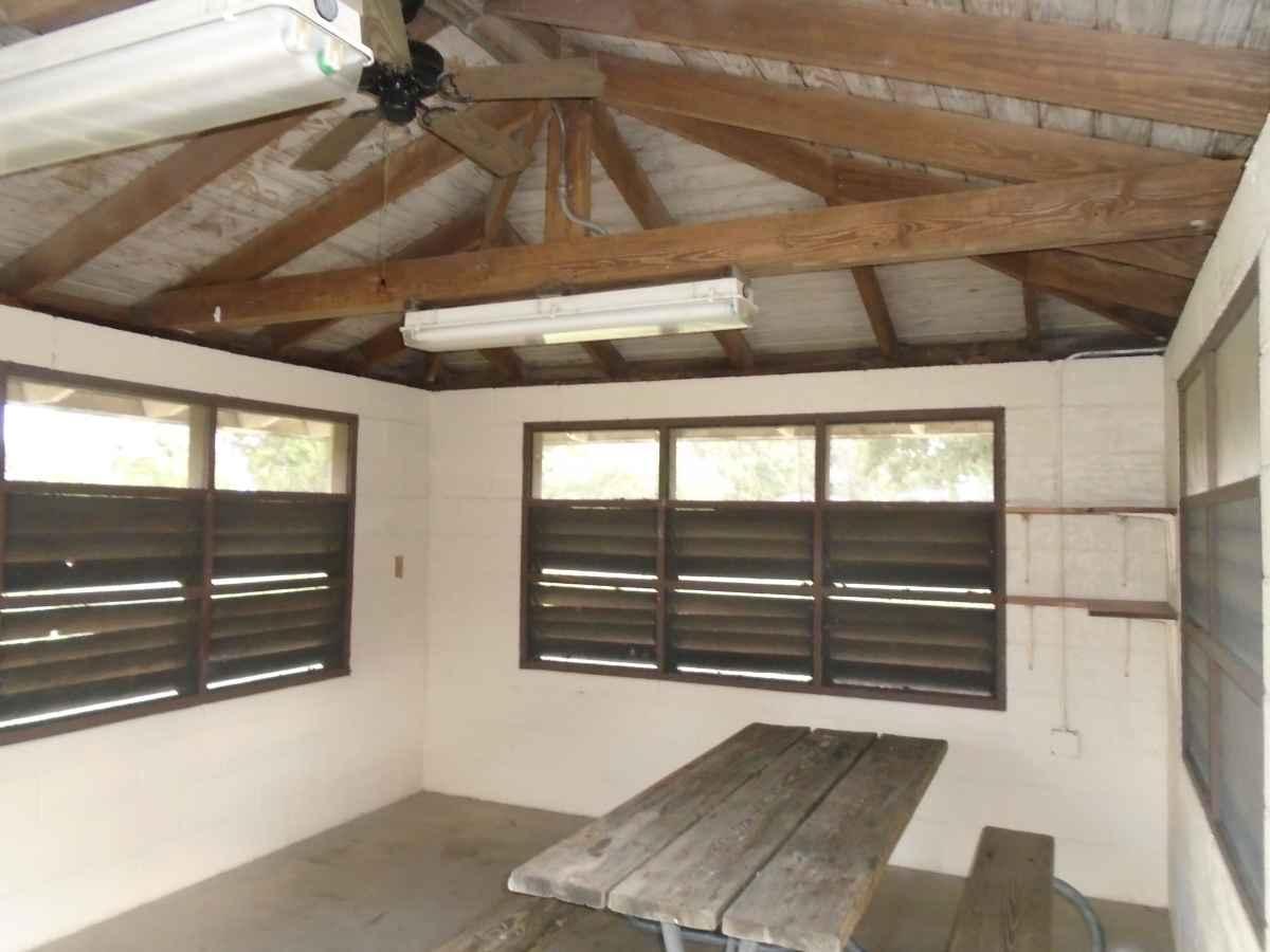 Inside Screened Shelter #4.