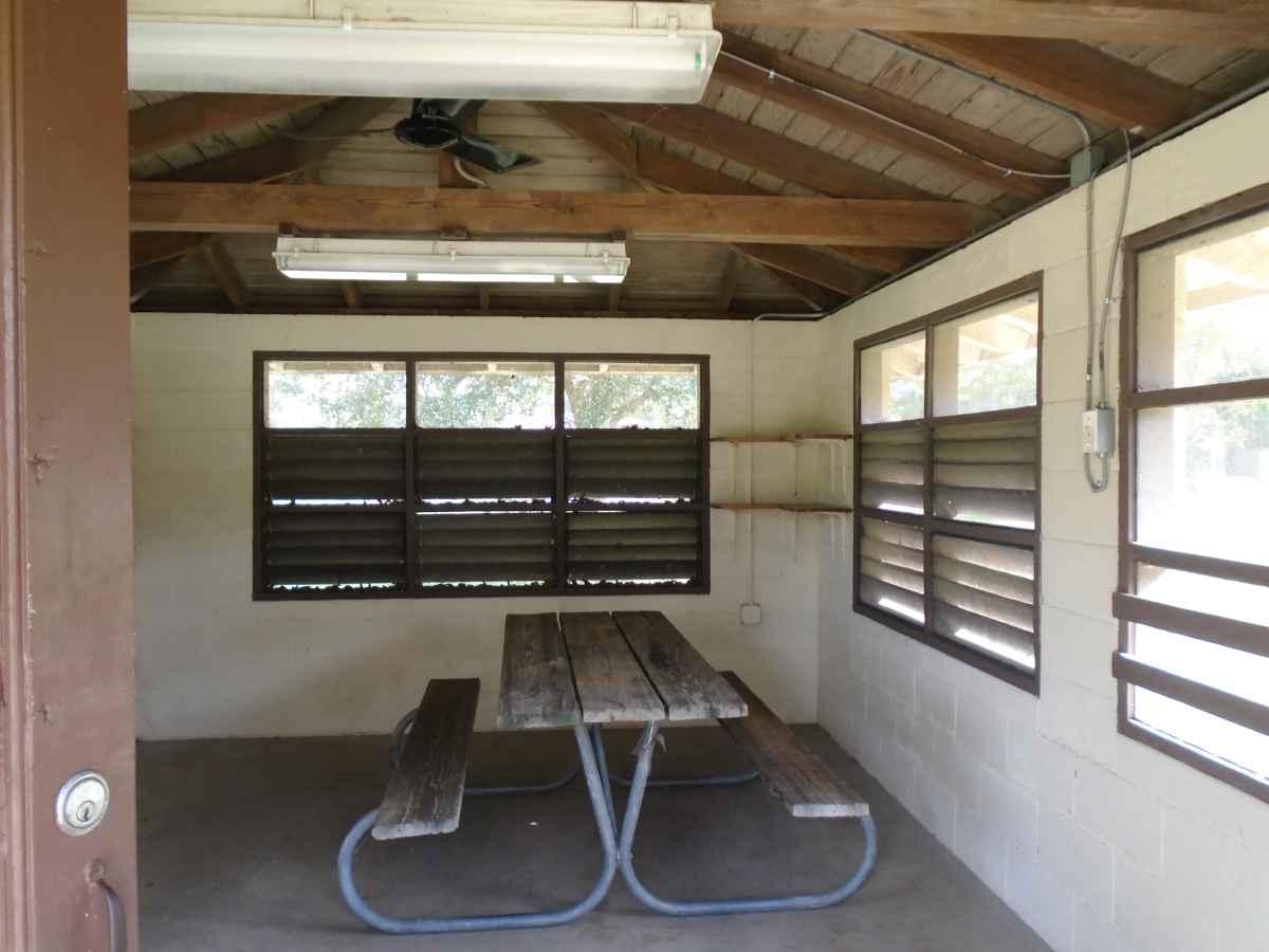 Inside Screened Shelter #5.