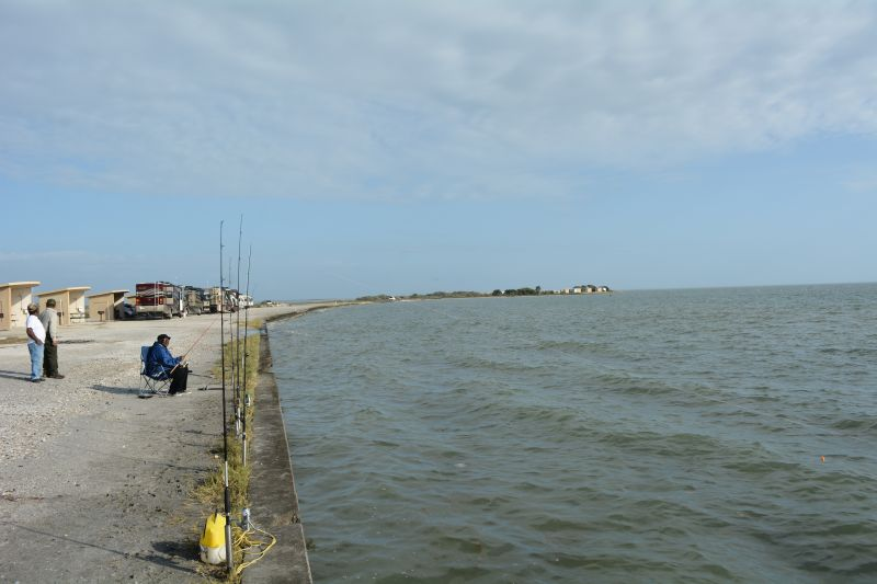 Fishing along the Bayfront Campsites