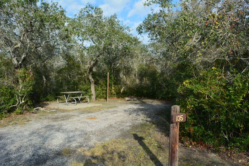 Goose Island State Park Standard Campsites (Water and ...