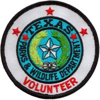 Texas State Parks volunteer patch.