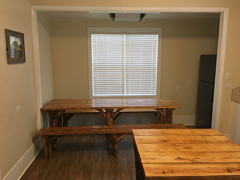 Tables in kitchen