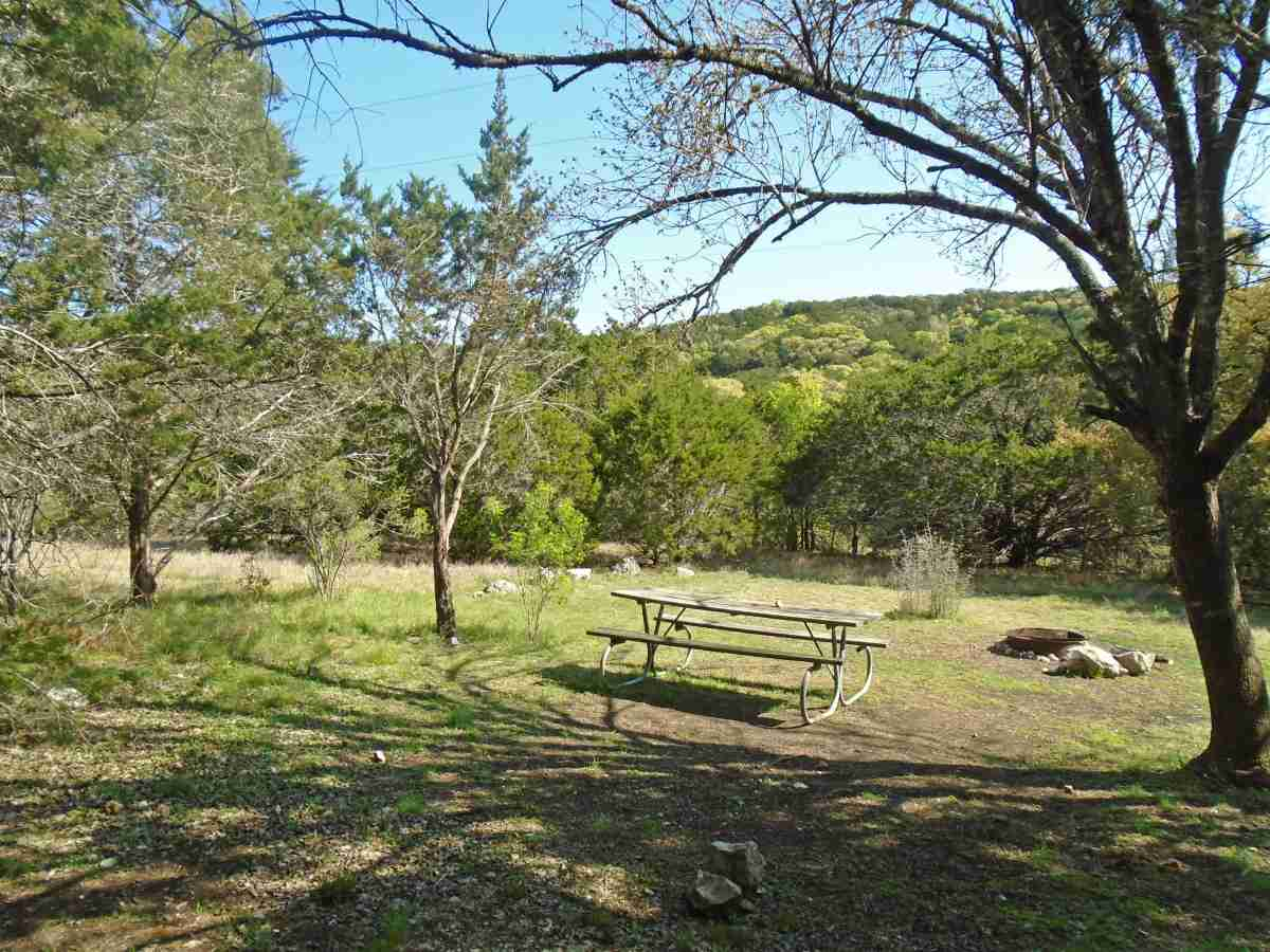 hill country state natural area primitive campsites  hike