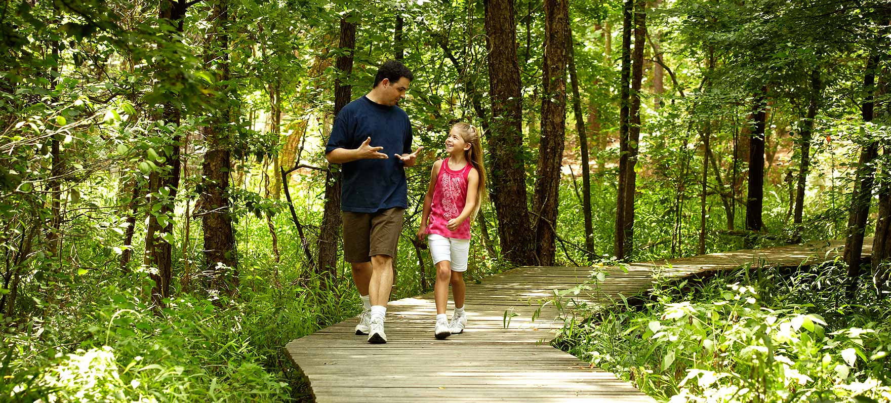 Under the tall trees of the Pineywoods, hike with the soft crunch of pine needles underfoot and cross paths with abundant wildlife who call the park home.
