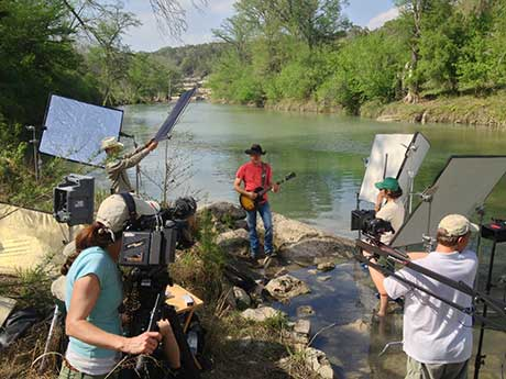 Filming Kevin Fowler