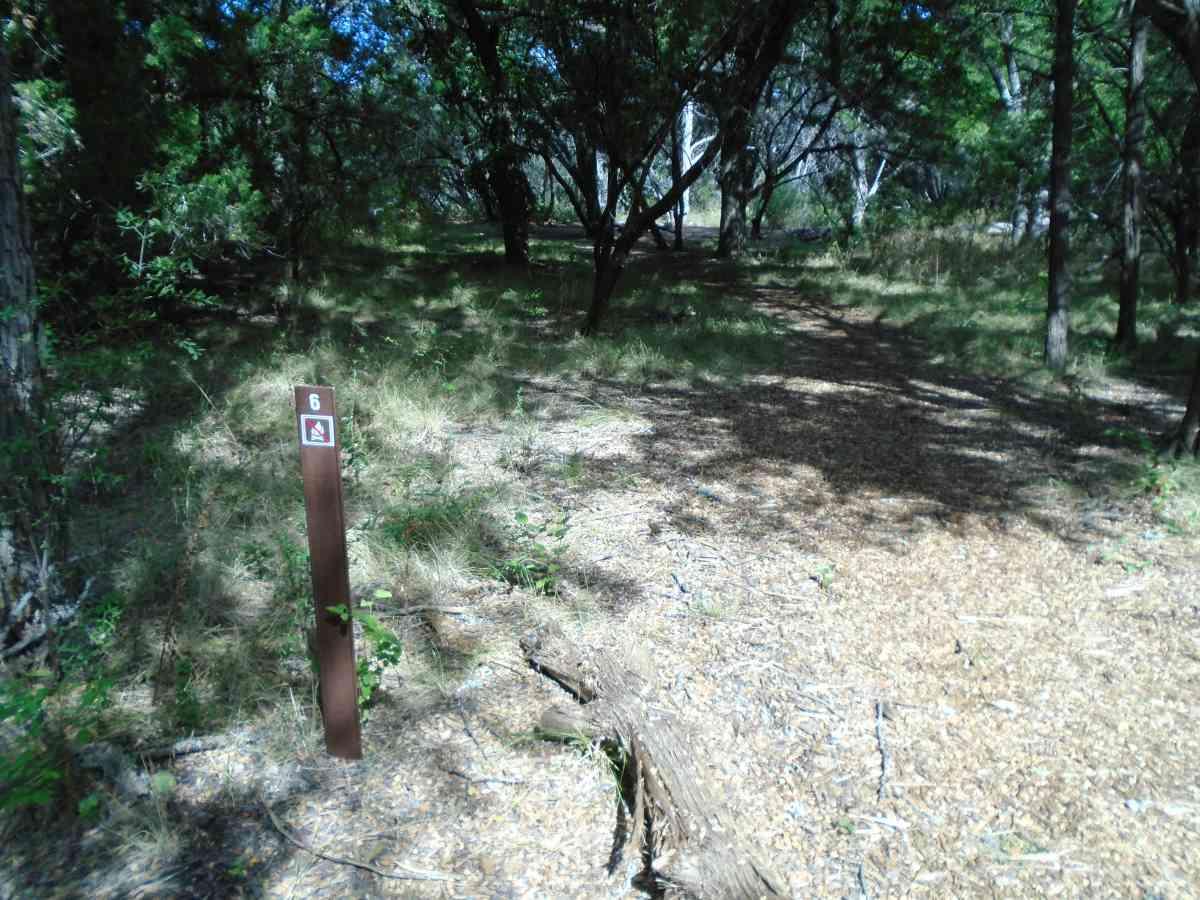 Hike-in Primitive Campsite #6.