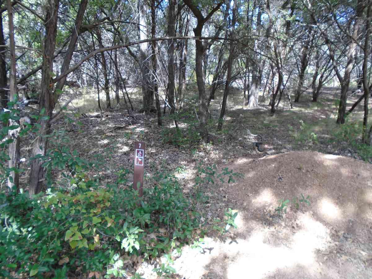 Hike-in Primitive Campsite #7.