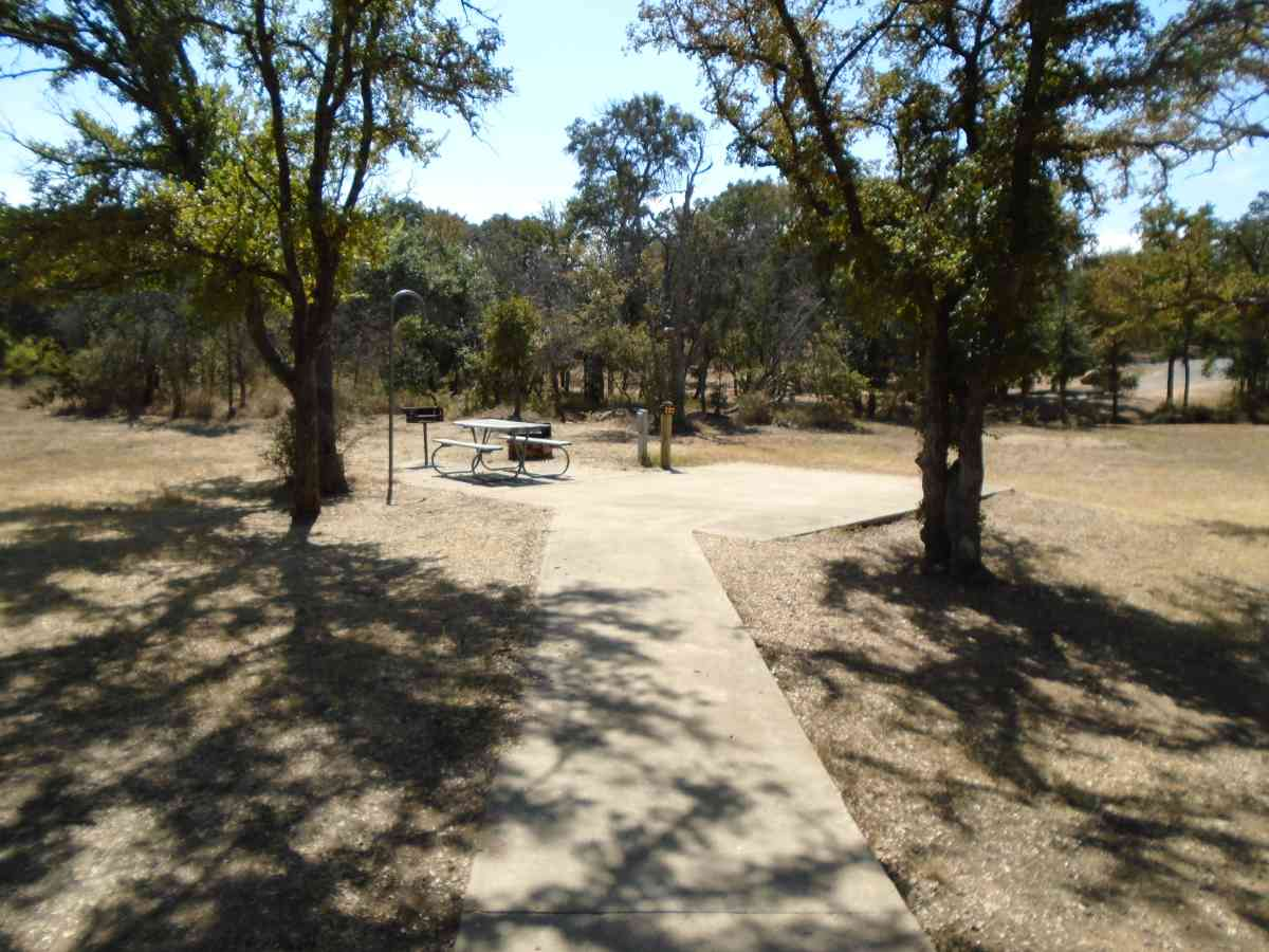 Paved wheelchair accessible walkway to Walk-in Campsite #220.