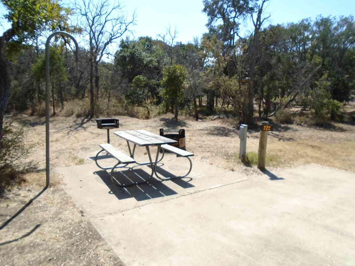 Walk-in Campsite #220 is wheelchair accessible.