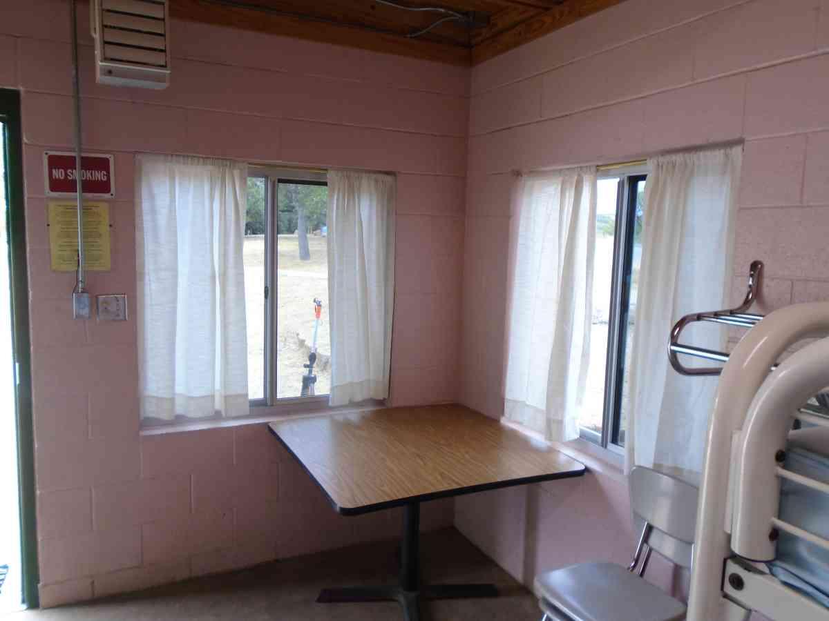 Inside wheelchair friendly Cabin #1.
