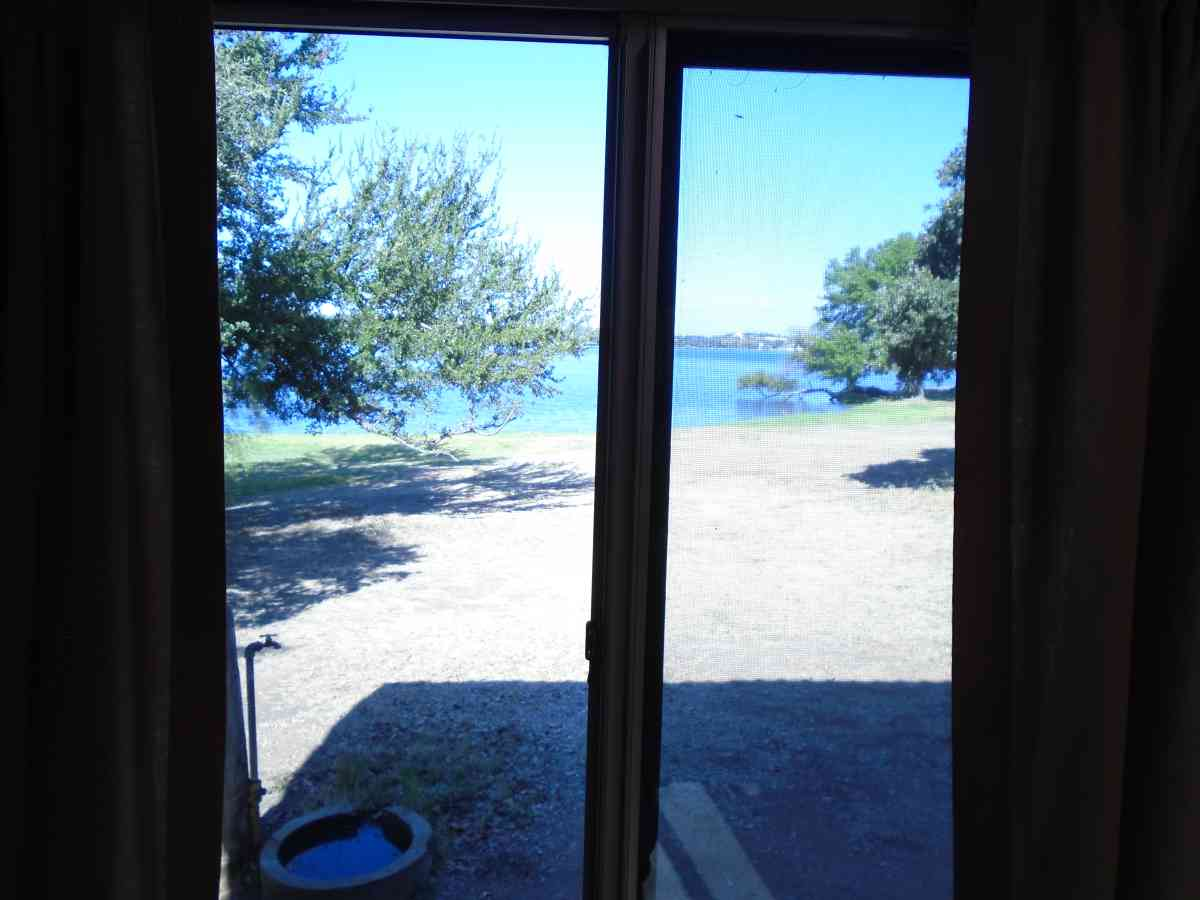Looking out a window in Cabin #6.