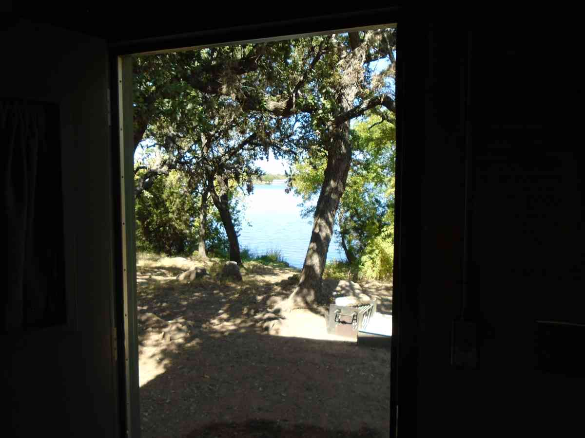 Looking out the window of Cabin #10.