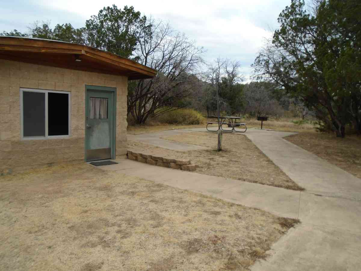 The path to Cabin #17 is wheelchair friendly.