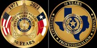 two commemorative coins for state park police 50 year anniversary