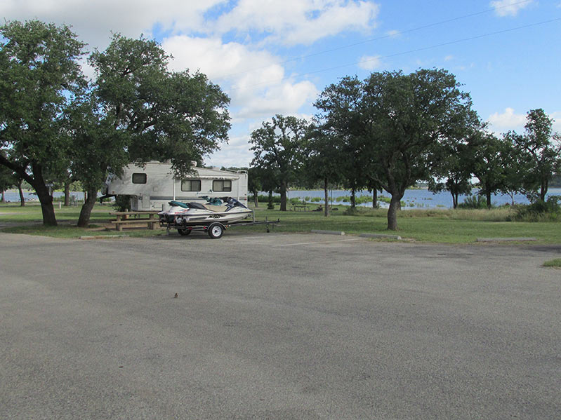 Lake Brownwood State Park Excess Vehicle Parking Texas