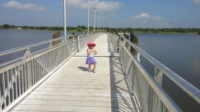 The Wheelchair Accessible Fishing Pier at Lake Corpus Christi State Park.