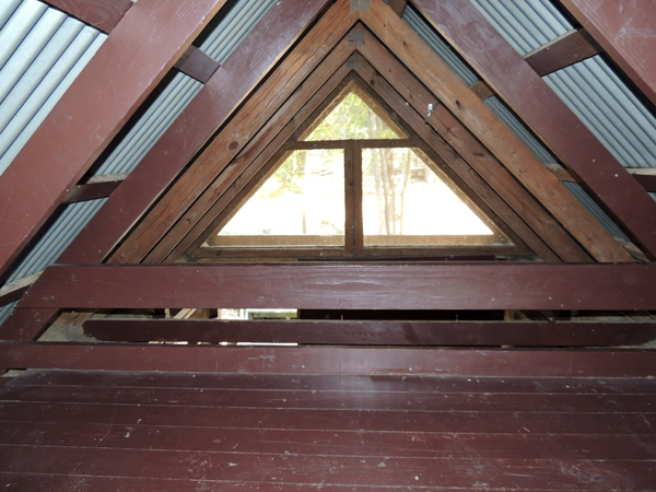 View of the loft inside a Screened Shelter.